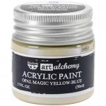 Finnabair Art Alchemy Acrylic Paint - Opal Magic Yellow Blue