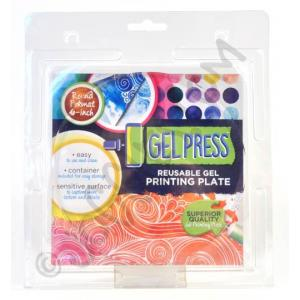 "Gel Press Reusable Print Plate - 6"" Round"