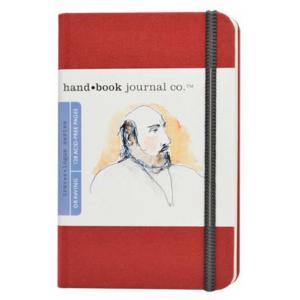 Global Art Materials Handbook Journal - Drawing Pocket Portait Vermilion Red [721214]