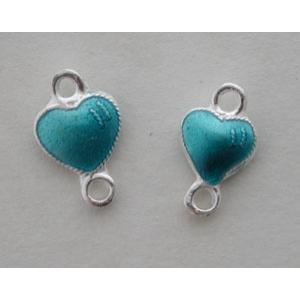 GM Double Sided Mini Link Hearts - Turquoise