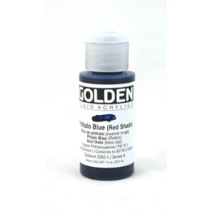 Golden Fluid Acrylics - Phthalo Blue (Red Shade)
