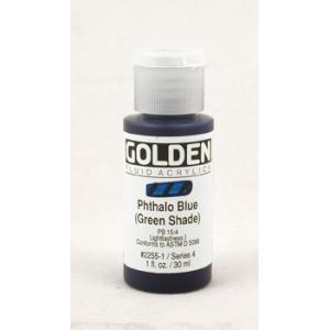 Golden Fluid Acrylics - Phthalo Blue (Green Shade)