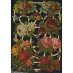 Glittered Victorian Scrap Pictures [7182G] - Rose Baskets - ON SALE!