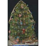Glittered Victorian Scrap Pictures [7195G] - Christmas Tree - ON SALE!