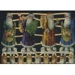Glittered Victorian Scrap Pictures [7306G] - Santas - ON SALE!