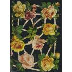 Glittered Victorian Scrap Pictures [7346G] - Roses - ON SALE!
