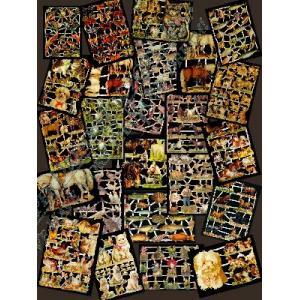 Non-Glittered Victorian Scrap Picture Assortment - 25 Sheets - Animals [625-30] - ON SALE!