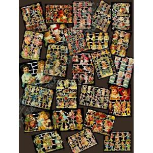 Non-Glittered Victorian Scrap Picture Assortment - 25 Sheets - Children [625-40] - ON SALE!