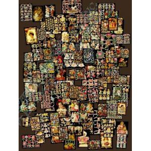 Glittered Victorian Scrap Picture Assortment - 100 Sheets - Dreams Of Youth [8000] - ON SALE!