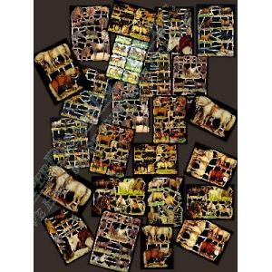 Glittered Victorian Scrap Picture Assortment - 25 Sheets - Horses [8125] - ON SALE!