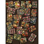 Glittered Victorian Scrap Picture Assortment - 25 Sheets - Flowers [825-10] - ON SALE!