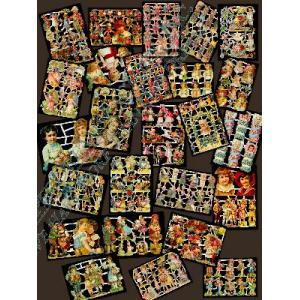 Glittered Victorian Scrap Picture Assortment - 25 Sheets - Children [825-40] - ON SALE!