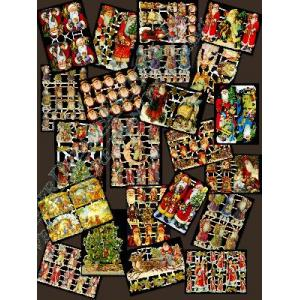 Glittered Victorian Scrap Picture Assortment - 25 Sheets - Christmas [825-8] - ON SALE!