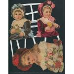 Victorian Scrap Pictures [7103] - Little Girls - ON SALE!