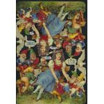 Glittered Victorian Scrap Pictures [7190G] - Snow White & The Seven Dwarves - ON SALE!