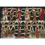 Glittered Victorian Scrap Pictures [7331G] - Santas - ON SALE!