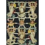 Glittered Victorian Scrap Pictures [7332G] - Angels - ON SALE!