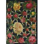 Glittered Victorian Scrap Pictures [7344G] - Roses - ON SALE!