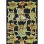Glittered Victorian Scrap Pictures [7348G] - Angels - ON SALE!
