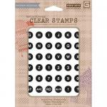 Hero Arts/Basic Grey Exclusive Collection Clear Stamps - [CL692] Keyboard Alphabet
