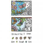 Hampton Art Color Me Clear Stamp Set - Beautiful [SC0721]