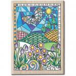 Hampton Art Color Me Wood Mount Rubber Stamp - Flowers [PS1030]