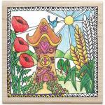 Hampton Art Color Me Wood Mount Rubber Stamp - Home [PS1029]
