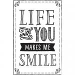 Hampton Arts Cam & Chloe Wood Mounted Rubber Stamp - Life With You [PS0853]