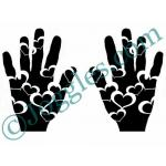 Joggles Stencils - Heart In Hand [10-33776]