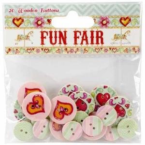 Helz Fun Fair Wooden Buttons HCBN006]