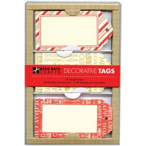 Hero Arts Decorative Tags - [PS642] Christmas Stripes