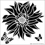 Hot Off The Press Stencil - Dahlia [9258]