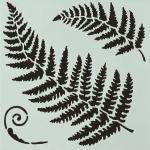 Hot Off The Press Stencil - Ferns [9251]