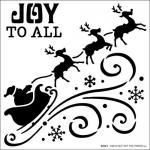 Hot Off The Press Stencil - Flying Santa [9259]