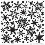 Hot Off The Press Stencil - Snowfall [9245]