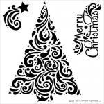 Hot Off The Press Stencil - Swirly Christmas Tree [9261]