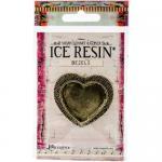 Ice Resin Milan Bezels - Antique Bronze Large Heart [IRB50681]