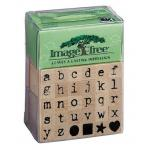 Image Tree Wood Mounted Rubber Alphabet Stamp Set - lowercase [ITABC4]