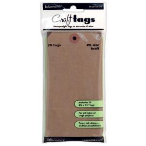 Ranger Inkssentials Craft Tags - Kraft Size 8 [ISC31864]