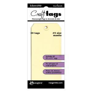 Ranger Inkssentials Craft Tags - Manilla Size 5 [ISM27966]