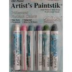 Shiva Artist's Paintsticks - 6 Iridescent Fashion Colors Set [121301]
