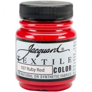 Jacquard Textile Color - Ruby Red