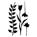 "Joggles / Margaret Applin Designs 6"" x 9"" Stencil/Mask Combo - Flora & Fronds #7 [33823]"