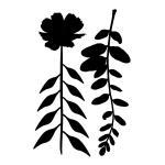 "Joggles / Margaret Applin Designs 6"" x 9"" Stencil/Mask Combo - Flora & Fronds #14 [33830]"
