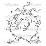 Joggles / Bloobel Cling Mounted Rubber Stamp - Quirky Birdy #2 [56795]