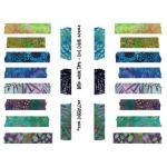 Joggles Collage Sheets - Batik Washi Tape - Cool Colors [JG401054]