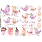 Joggles Collage Sheets - Bird Feathers Fluff II [JG401104]