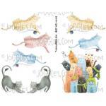 Joggles Collage Sheets - Crazy Cats [JG401108]