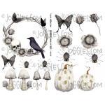 Joggles Collage Sheets - Halloween Shades of Grey I [JG401125]