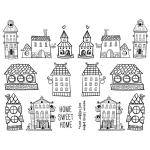 Joggles Collage Sheets - Quirky Houses [JG401093]